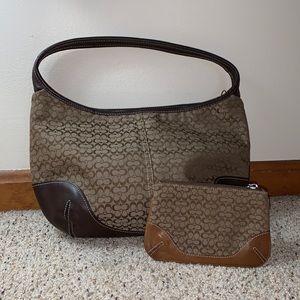 Coach Logo Shoulder Bag & Wristlet